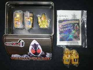 Bandai limited edition DX kamen rider Fourze gold switch