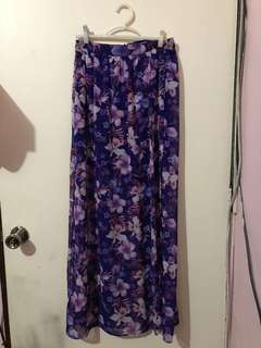 Forever 21 floral sheer skirt with lining