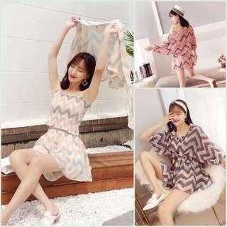 🚚 ♡女神范新款開衫+吊帶+短褲♡