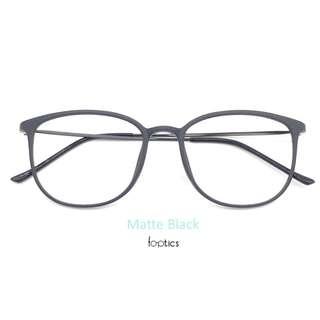 foptics Eyewear - Prescription Glasses - Eagle in Matte Black