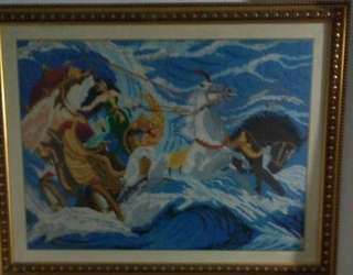 "Lukisan kristik ""ratu pantai selatan"""