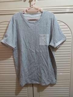 全新 男裝灰色短袖Tee 中碼 衫長28寸,胸闊20寸