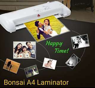 Slim A4 Laminator No Blistering Hot and Cold Laminating Machine with One Buttons Back Paper Function (to clear jam)