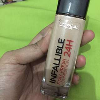 loreal inafallible stay fresh foundation 24H
