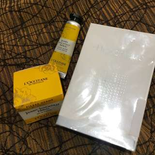 l'occitane perfume and Whitening Serum with freebie