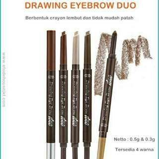[preloved 80%] etude house drawing eyebrow duo
