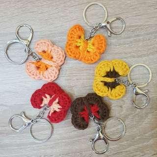 Butterfly Crochet Keychain