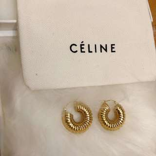 Celine SS18 Brass earrings