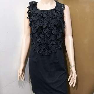 Enzo Gevoni Italy Sleeveless Black Dress