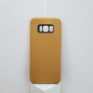 Gold Honeycomb Dots Soft TPU Back Case Cover for Samsung S8