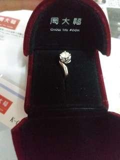 18k白色黃金鑽石戒指