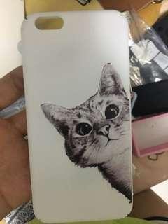 iPhone Case i6 白色硬殻貓貓