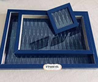 Serving tray and coasters