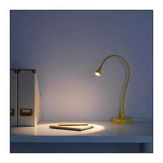 Ikea LED work lamp JANSJÖ.  Pink color.  Led light save electricity