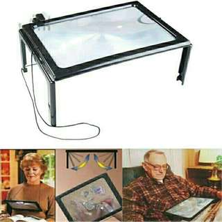 🚚 Magnifier with LED Light Glass Book Reading Aid Lens