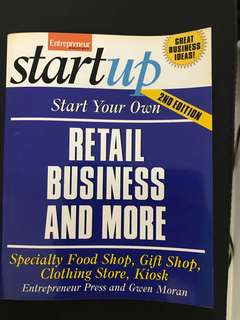 Startup: Start Your Own Retail Business & More