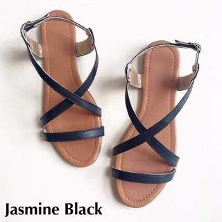 Jasmine Sandals - Black - Size 8