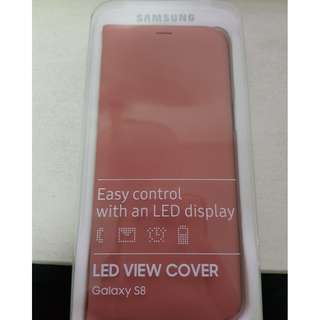 Brand New Samsung Galaxy S8 LED View Cover (Pink)