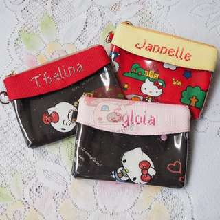 Handmade Personalized Clear Pocket Zipper Pouch