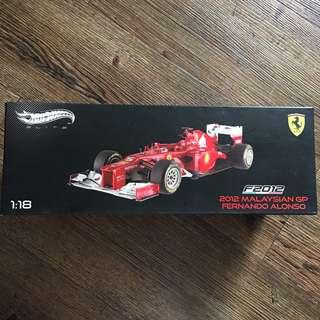 Hot Wheels Elite 2012 Malaysian GP Fernando Alonso