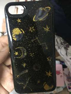 iPhone case i7黑色軟殻星空星座