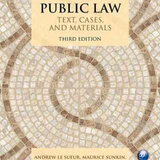 Public law 3rd edition uob LLB