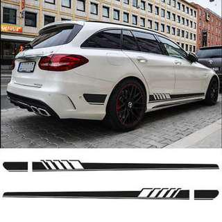 car sideline decal stickers amg style Mercedes