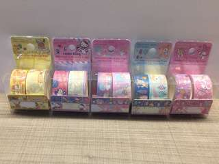 Sanrio-little twin stars, my melody, hello kitty, gutetama, hummingmint decor masking tape, sticker
