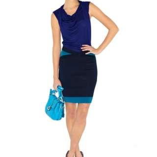 Karen Millen Jersey and Knit Bodycon Stripe Dress