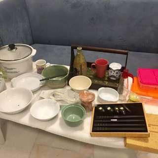 Garage Sales bowls , pots , teapots