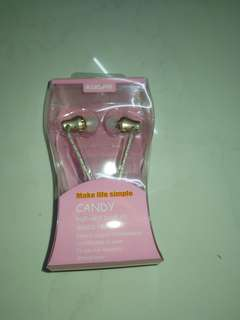BRAND NEW CANDY PINK WIRED EAR PIECE