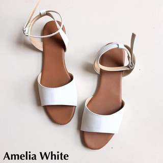 Amelia Sandals - White - Size 8