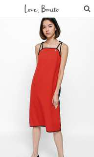 BNWT Love Bonito Size M Riveriea Contrast Grommet Midi Dress