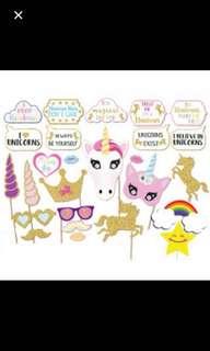 26 pcs unicorn photo prop