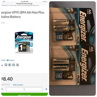 Energizer Max Plus AA Battery