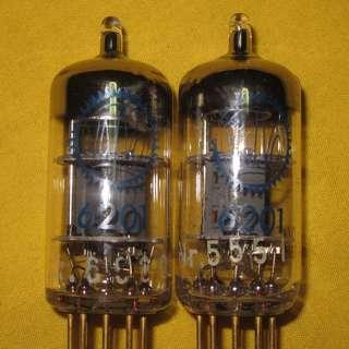 valvo 6201 ecc81 12at7 gold pin blue print strong pair tubes, guitar, hifi, preamp, speaker, amplifer, cd player, dac, turntable, headphone, audiophile