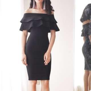 Layered Bardot Bodycon Dress