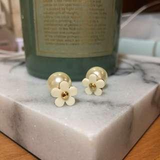 花花珍珠托耳環