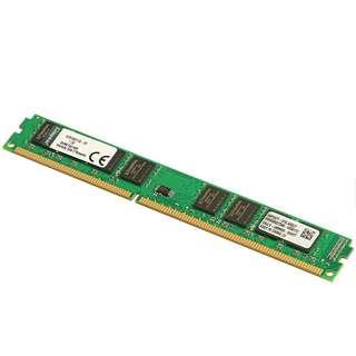 🚚 Kingston 金士頓 DDR3 1600 4GB 窄版單面 8顆粒 桌機記憶體 終生保固【拆機良品、售價為單支價】