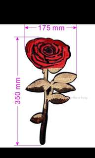 Iron on rose sequinnes