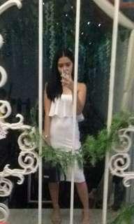 White tube midi dress