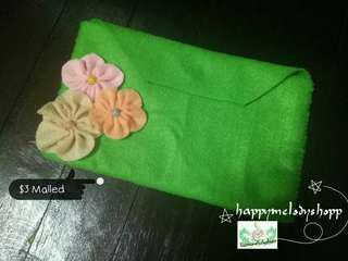 Clearance sale @$3 mailed!! Handmade felt wallet!!