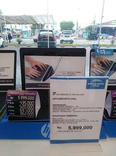 Laptop merk hp i3 bs di kredit