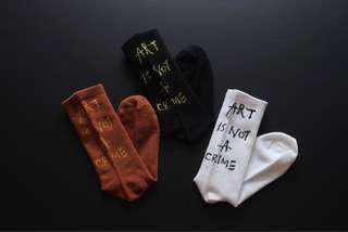 🚚 Art is not a crime socks -instocks