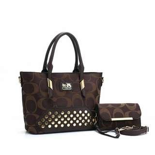 Coach #737 : SET 2 IN 1 Handbag