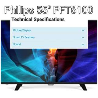 "GSS SALE PHILIPS PFT6100 55"" (Instock)"