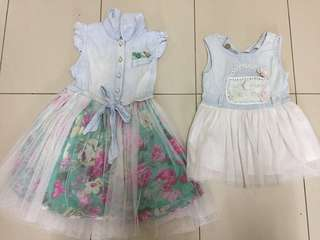 Tutu denim dress size 1 & 3 years