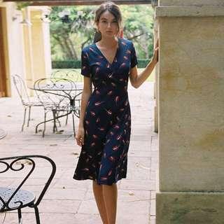 Classy printed dress