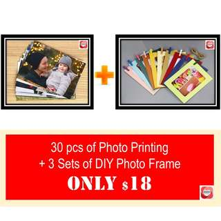 PHOTO PRINTING & PAPER FRAME BUNDLE DEAL