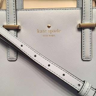 95% New 100% Real Kate Spade Baby Blue Crossbody 100%正品 兩用 斜袋 手挽